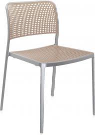 Krzesło Audrey aluminiowa rama piaskowe siedzisko