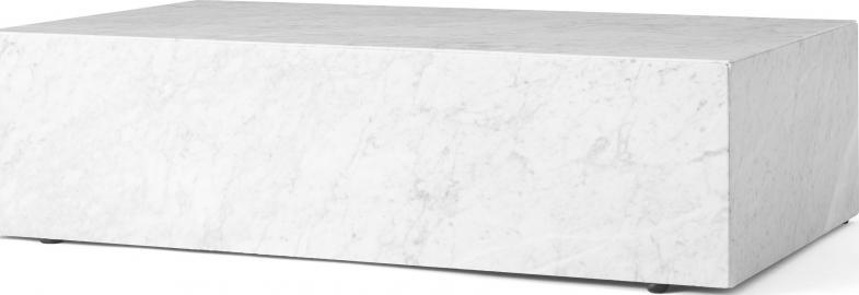 Postument marmurowy Menu niski biały marmur