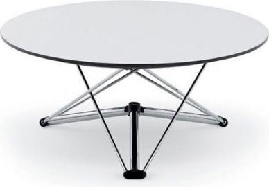 Stół Lem rama chromowana blat biały