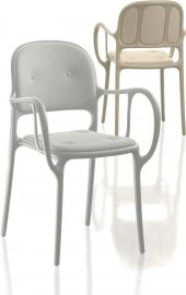 Krzesło Mila tapicerowane białe
