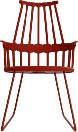 Krzesło Comback sanki pomarańczowoczerwone