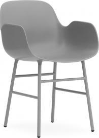 Fotel Form stalowe nogi szary
