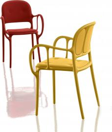 Krzesło Mila tapicerowane żółte