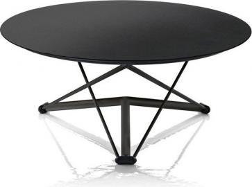 Stół Lem rama czarna blat czarny