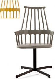 Krzesło Comback obrotowe żółte