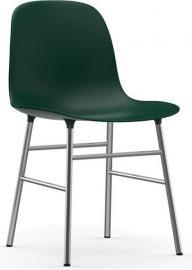 Krzesło Form chromowane nogi zielone