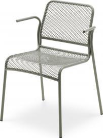 Krzesło Mira z podłokietnikami szare