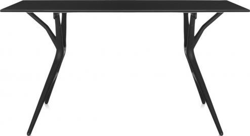 Stół Spoon 160 cm czarny blat czarna rama
