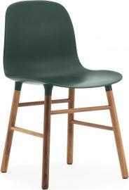 Krzesło Form zielone orzechowa rama