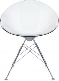 Krzesło Eros z 4 nogami przezroczyste transparentne