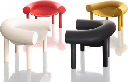Fotel Sam Son czerwony