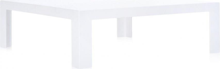 Stolik kawowy Invisible biały lśniący