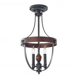 Lampa sufitowa w stylu country Alston