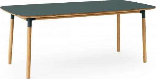 Stół Form 95x200 cm zielony