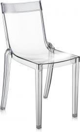 Krzesło Hi-Cut przezroczyste z prezroczystym paskiem
