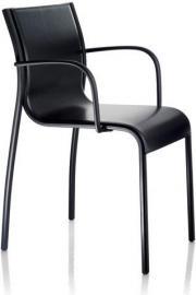 Fotel skórzany Paso Doble czarny rama lakierowana