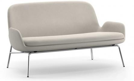Sofa Era na stalowych chromowanych nogach tkanina Fame