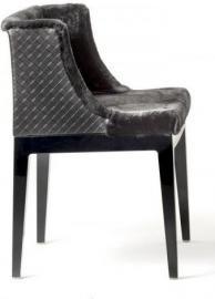 Krzesło Mademoiselle Kravitz futro skóra czarny korpus