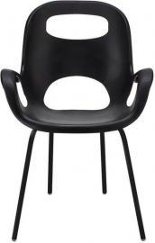 Krzesło Oh czarne z czarnymi nogami