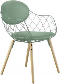Krzesło Pina zielone materiał Star, nogi jesion