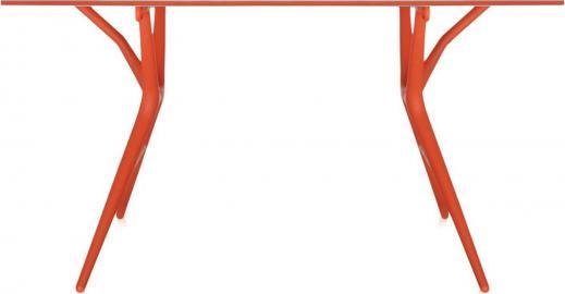 Stół Spoon 160 cm biały blat pomarańczowa rama