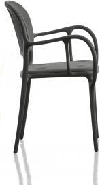 Krzesło Mila tapicerowane czarne