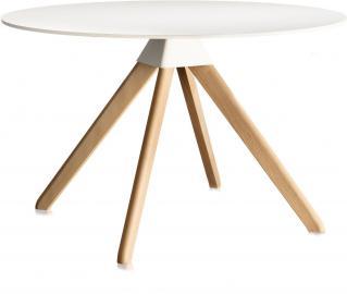 Stół Cuckoo biały blat nogi naturalny buk