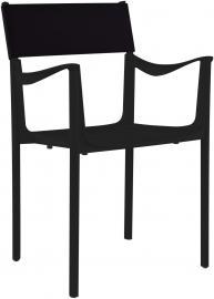 Krzesło Venice czarne z czarnym oparciem