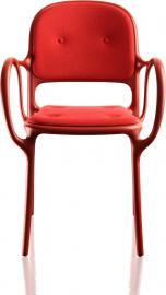 Krzesło Mila tapicerowane czerwone