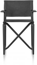 Krzesło Stanley czarna rama czarny materiał