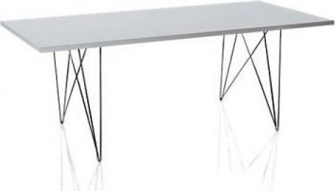 Stół XZ3 prostokątny biały blat czarna rama