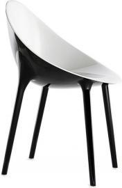 Krzesło Super Impossible czarno-białe