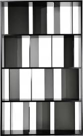 Regał Sundial czarny-przydymiony