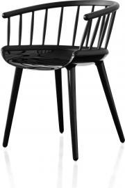 Krzesło Cyborg Stick czarna błyszcząca rama czarne oparcie