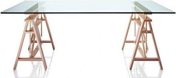Stół Teatro blat z hartowanego szkła