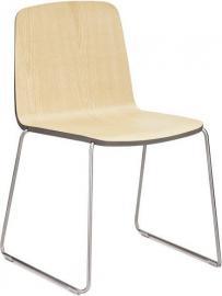 Krzesło Just naturalne z szarym wykończeniem