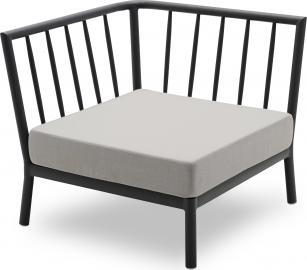 Fotel modułowy narożnikowy Tradition szary