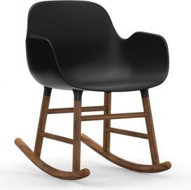 Fotel bujany Form drewno orzechowe czarny