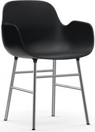 Fotel Form chromowane nogi czarny