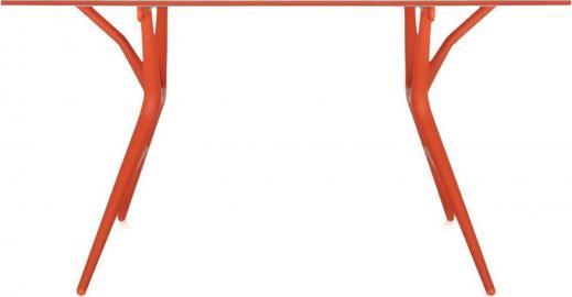 Stół Spoon 140 cm biały blat pomarańczowa rama