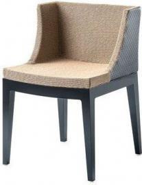 Krzesło Mademoiselle Kravitz rafia czarny korpus