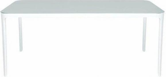 Stół Vanity prostokątny 140 cm biała rama biały blat