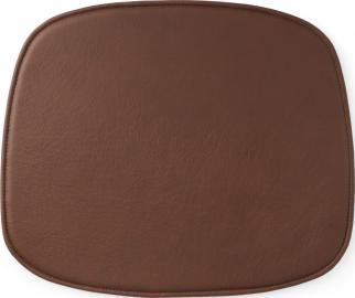 Poduszka na krzesło Form brandy skórzana