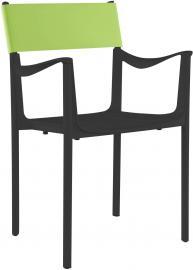 Krzesło Venice czarne z zielonym oparciem