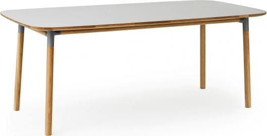 Stół Form 95x200 cm szary