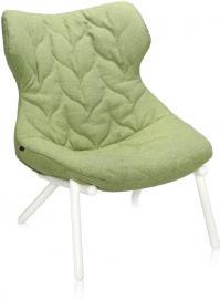 Fotel Foliage biała rama zielona wełna