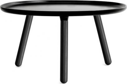Stolik Tablo 78 cm czarny z czarnymi nogami
