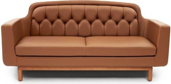 Sofa Onkel podwójna brązowa skóra