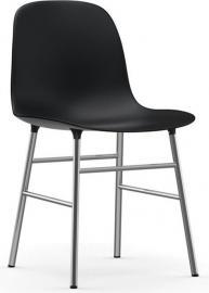 Krzesło Form chromowane nogi czarne