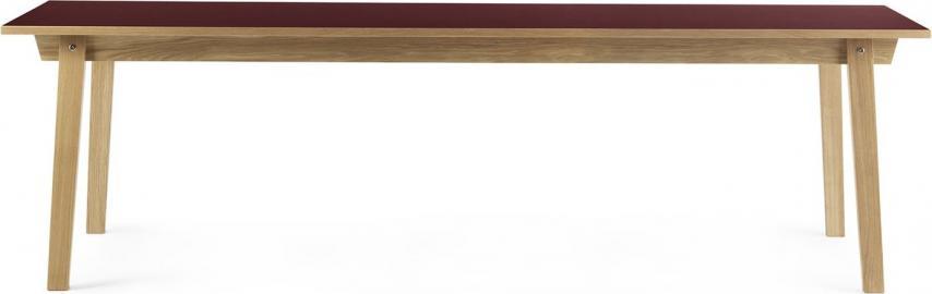 Stół prostokątny Slice 90x250 cm burgund